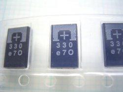 画像2: POSCAP 高分子タンタル固体コンデンサ 2.5V 330uF 10個 プロードライザ代替部品でも使えます