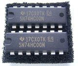 SN74HC00N DIP NANDロジックIC 2個